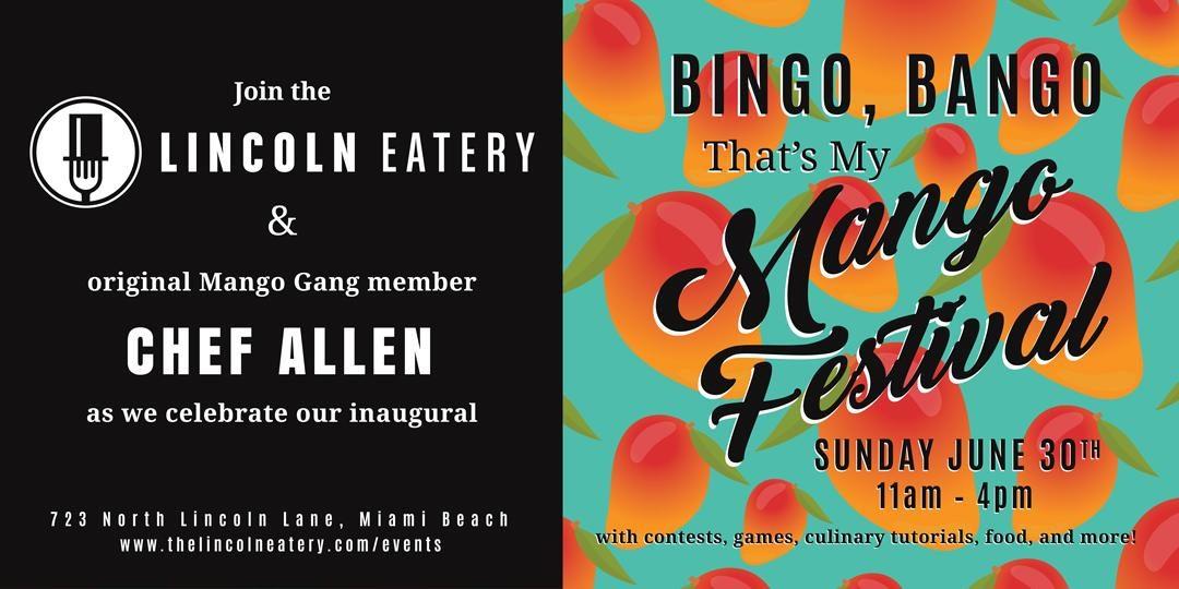 Bingo, Bango, That's My Mango Festival